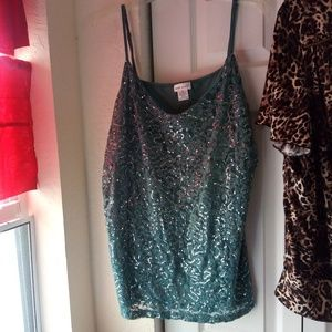 Wet seal sparkly tank top green